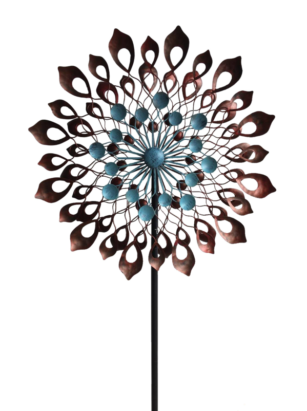 Sculpture Windspel Fleur Windmolen Tuinsteker Steeg80 Moestuin Enzo Windmolens Tuinkunst Sculpturen