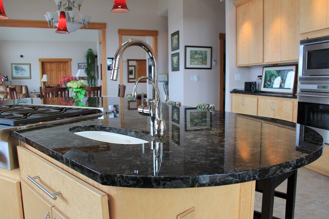 Newstar supply Volga Blue kitchen granite countertops ...