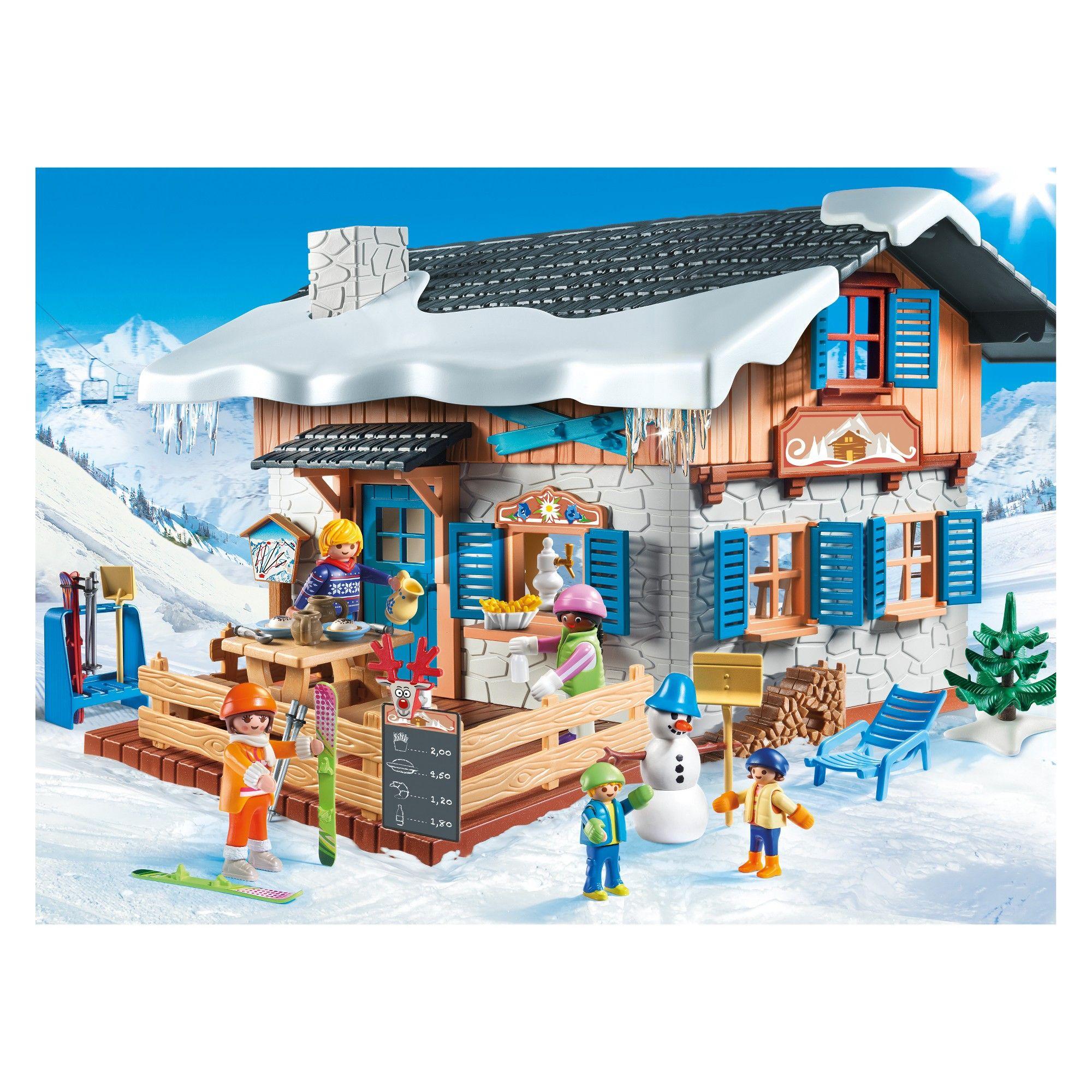 Playmobil Ski Lodge, mini figures Playmobil, Skiing, Lodges