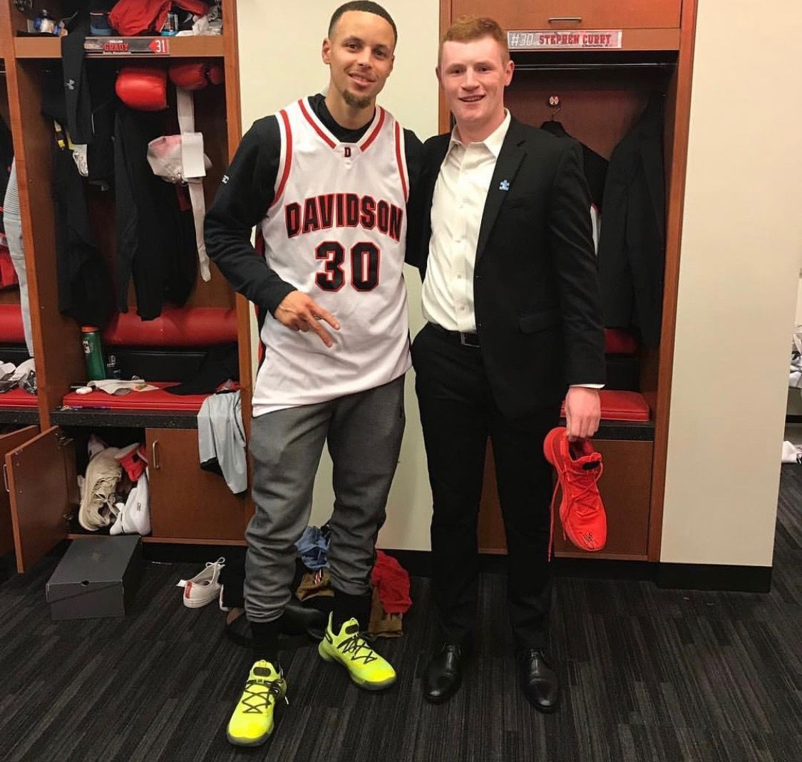 Golden State Warriors All Star Stephencurry Former Davidson Wildcats Star Friday Night At Davidson The Wildcats Bea Nba Champions Stephen Curry Steph Curry