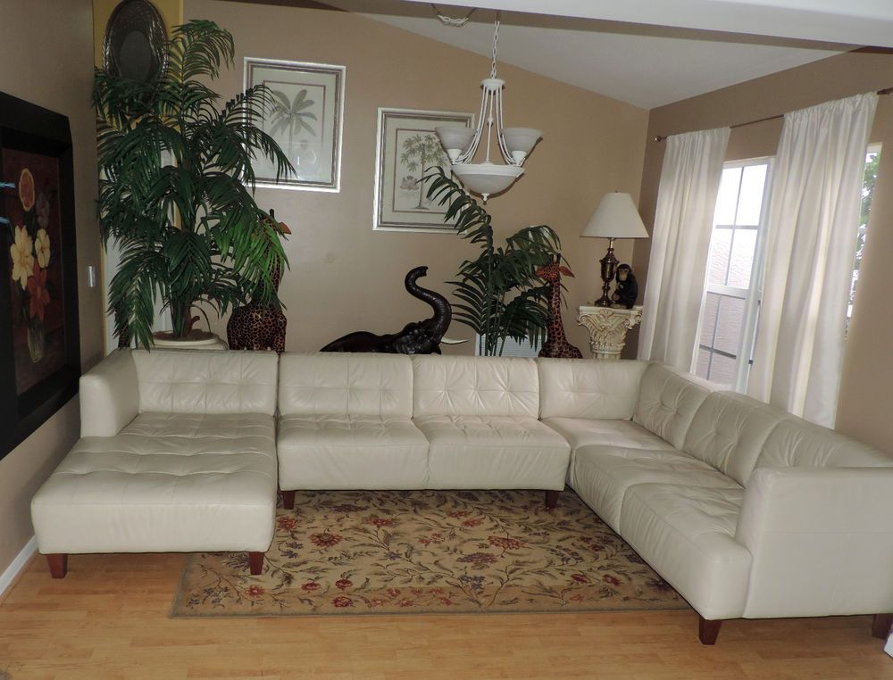 Macy S Alessia Designer Pearl Leather Sectional Sofa We Ship
