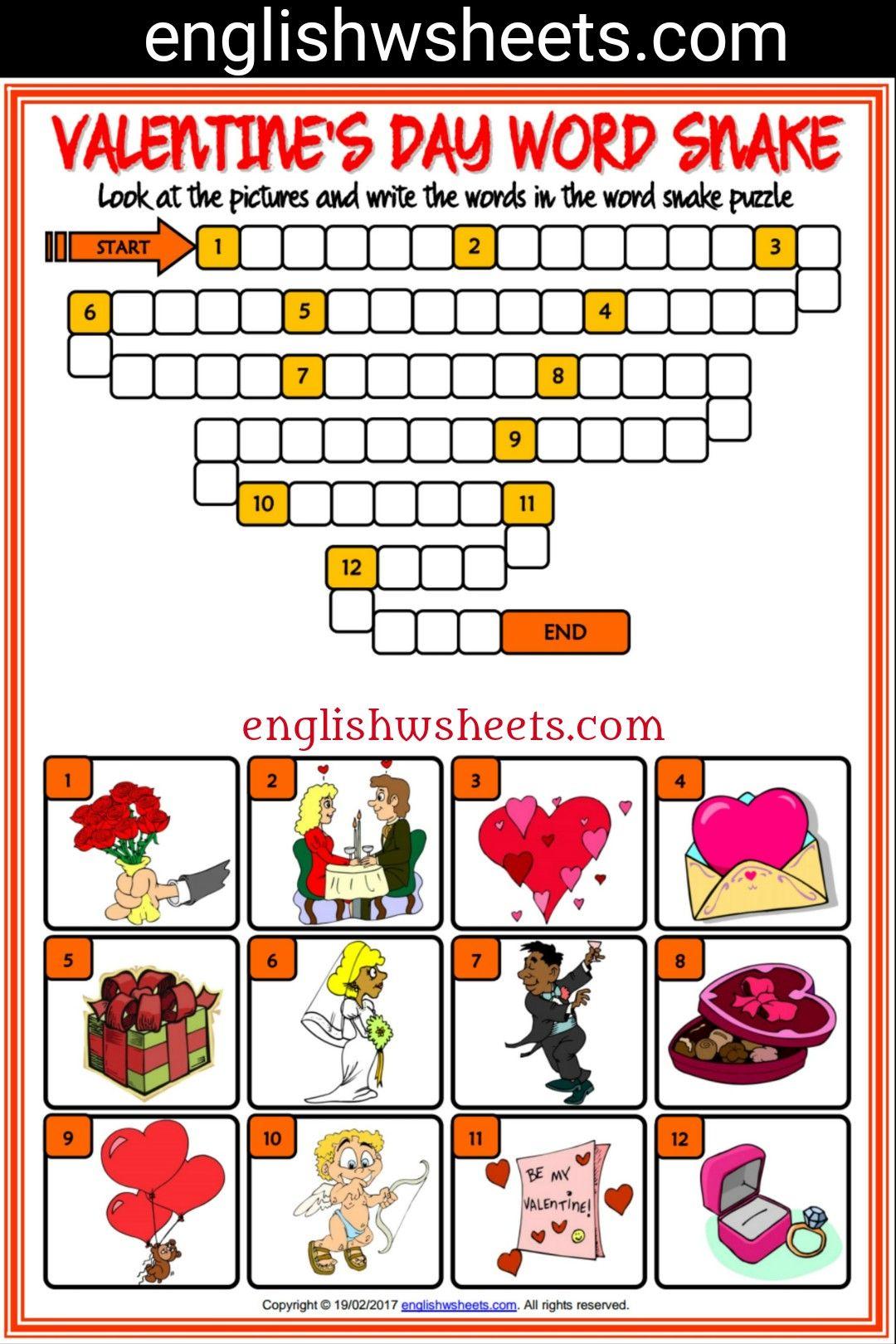 Valentine S Day Esl Printable Vocabulary Worksheets Met