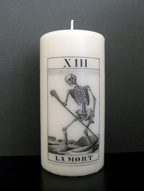 Tarot Candle Death Card Pillar Candle by BurkeHareCo on Etsy