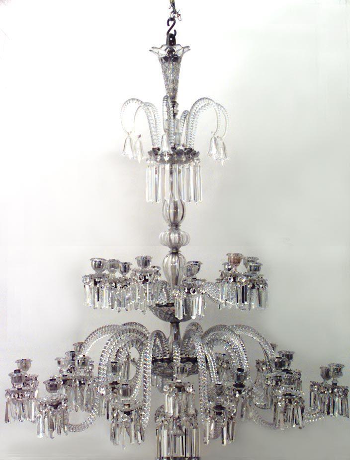 English Victorian lighting chandelier crystal