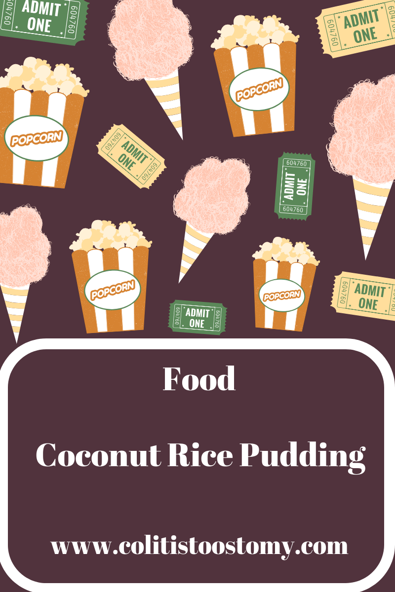 Coconut rice pudding is a really nice change to the ...
