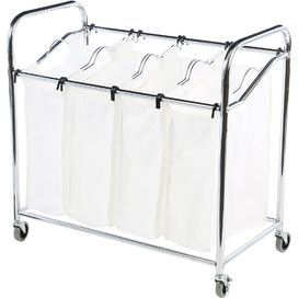 4 Compartment Laundry Sorter Laundry Sorter Whitmor Laundry