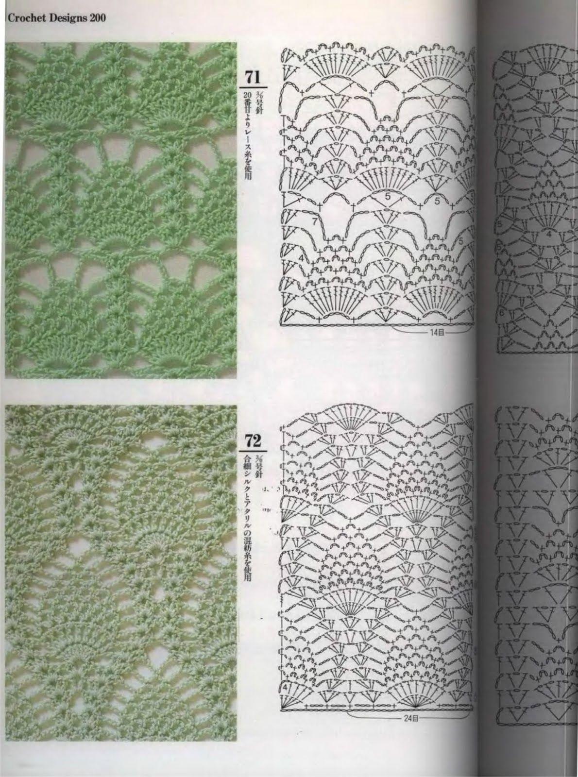 Asombroso Piña Crochet Patrón Afghan Adorno - Manta de Tejer Patrón ...