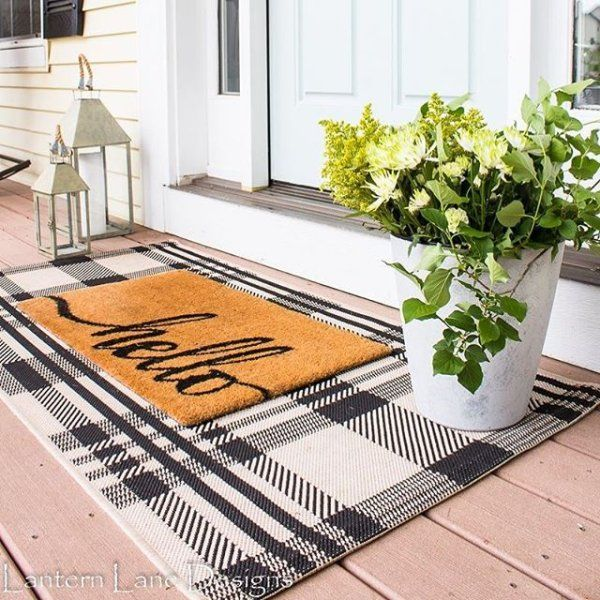 Black & Bone Plaid Outdoor Rug - Safavieh.com #outdoorrugs