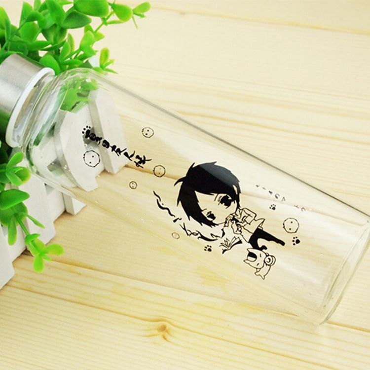 Natsume Yuujinchou Pattern Transparent Colourless Class Water Bottle Anime Products $17.50   #Lovejoynet #Animation