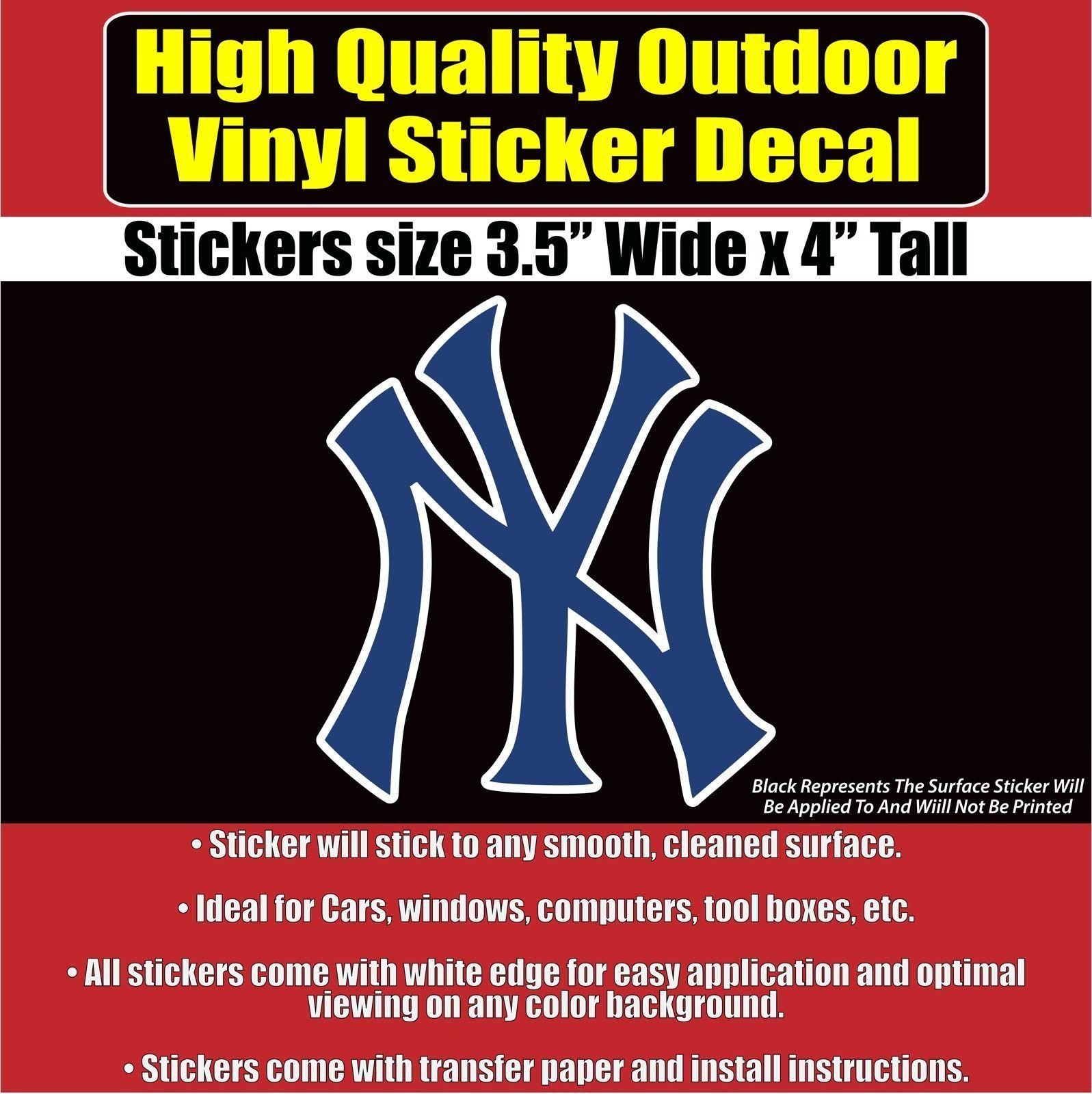 New York Yankees Vinyl Car Window Laptop Bumper Sticker Decal Bumper Stickers Car Stickers Vinyl Sticker [ jpg ]