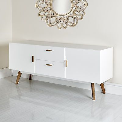 New Scandinavian Retro Tv Stand Sideboard Furniture White Grey 32 37 42 50 52 55 Living Room Tv Stand Apartment Living Room Retro Tv Stand