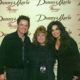 Me with donny and marie after the show during a vip meet and greet me with donny and marie after the show during a vip meet and greet m4hsunfo