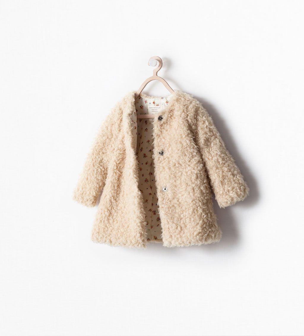 SHEEPSKIN COAT-Coats-Baby girl (3 months - 3 years)-KIDS | ZARA ...