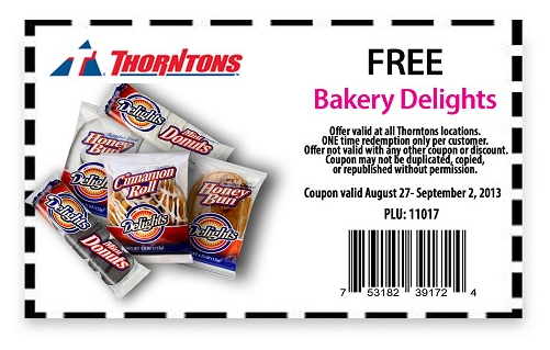 Thorntons Gas Station Deal! Snacks, Free stuff by mail