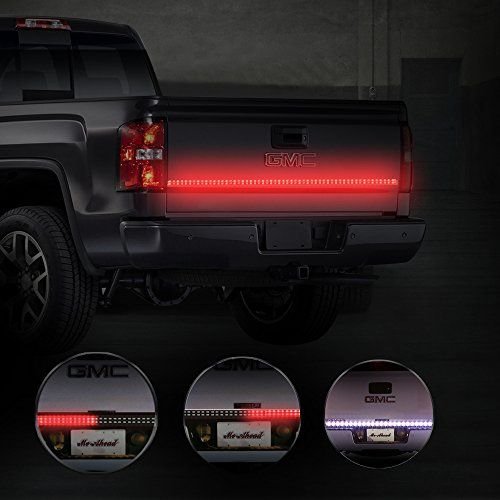"Led Light Strips For Trucks Mictuning Double Row 60"" Truck Tailgate Led Strip Light B…  Car"