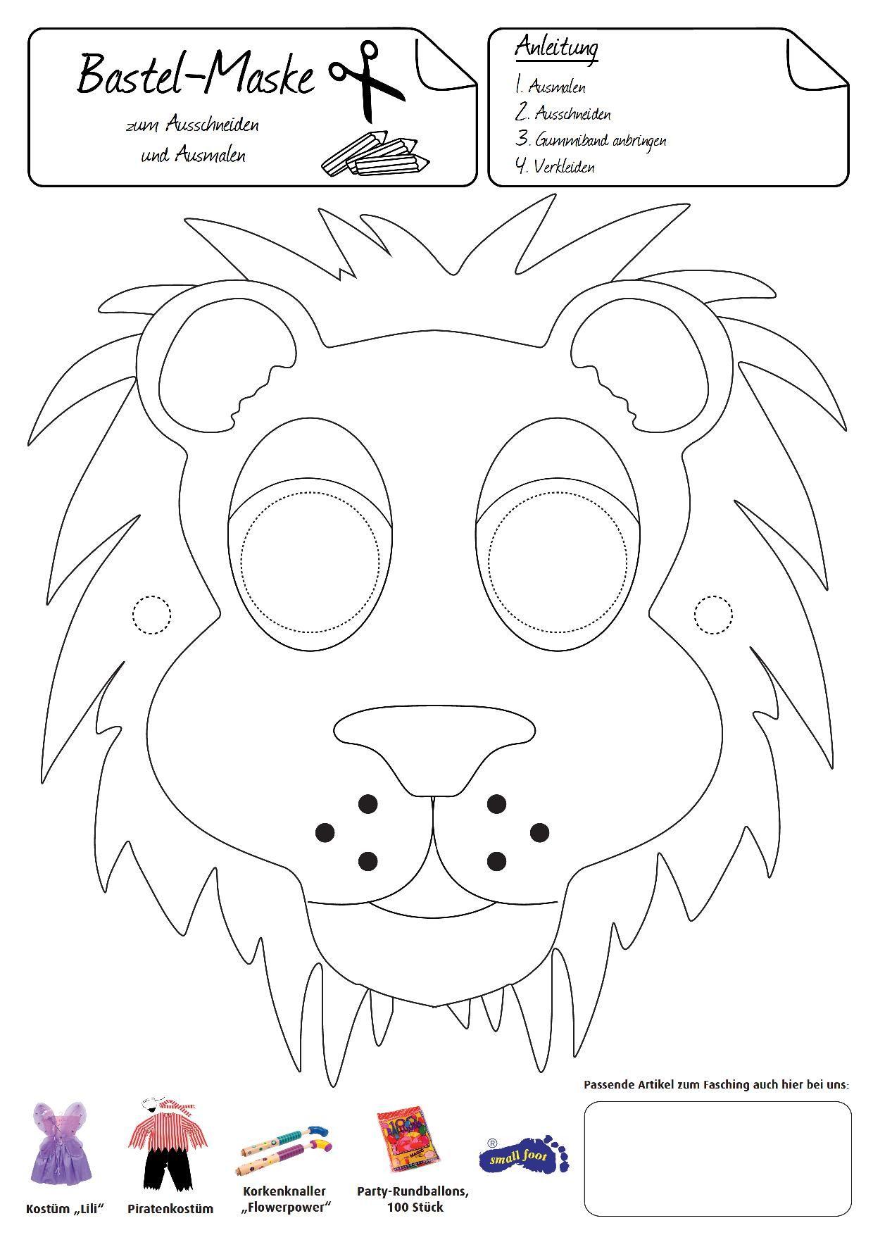 Löwen-Maske. Diese Maske macht Sie stolz, wie ein Löwe ...