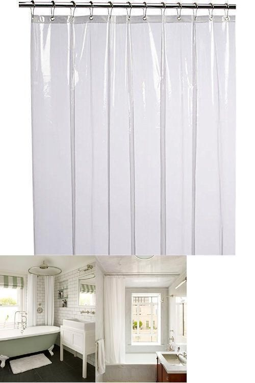 Tub Shower Curtain Liner Low Odor Non Toxic Eco Friendly No
