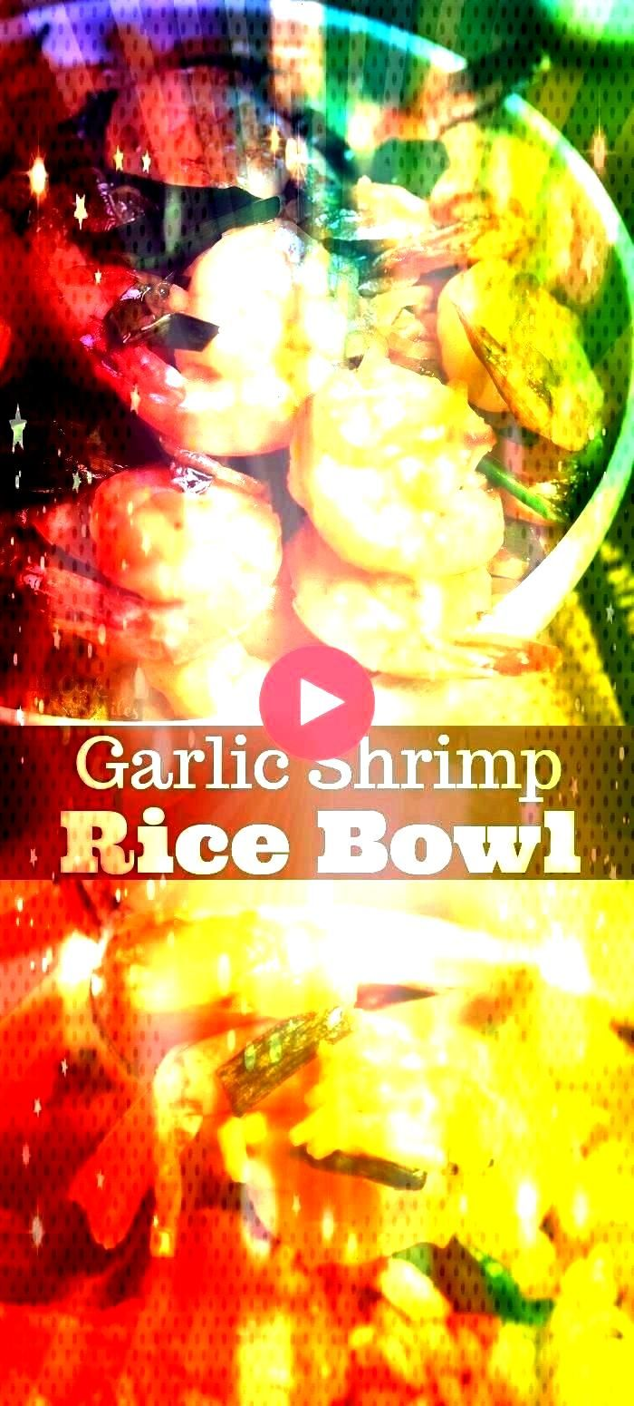 Bowl is an easy dinner and incredibly delicious. Sauteed shrimp in sweet and salty garlic sauce is