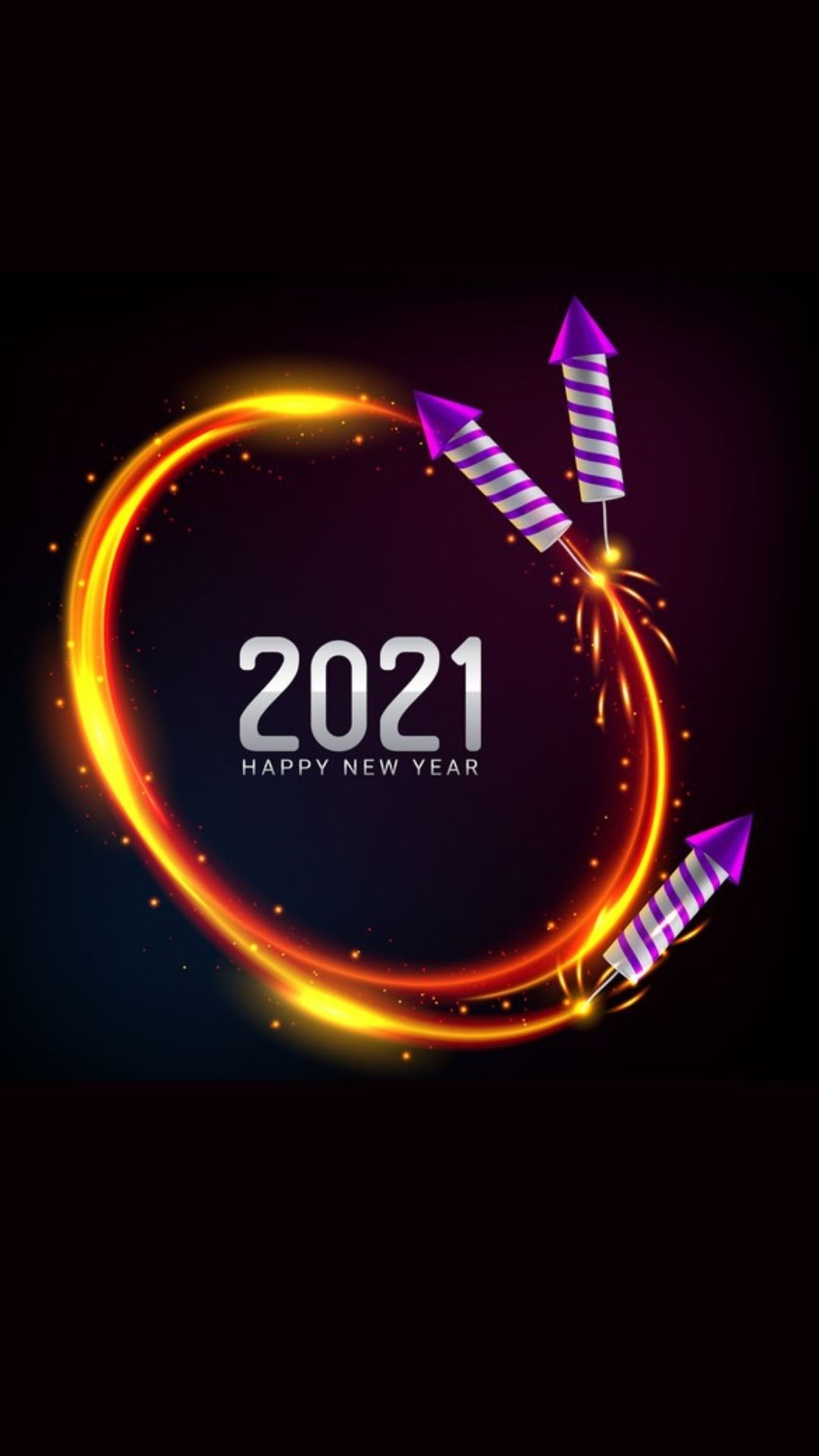 New Year Fireworks Wallpapers Beautiful 2021 Happy New Year Wallpaper New Year Fireworks Happy New Year Pictures New year 2021 orange hd background