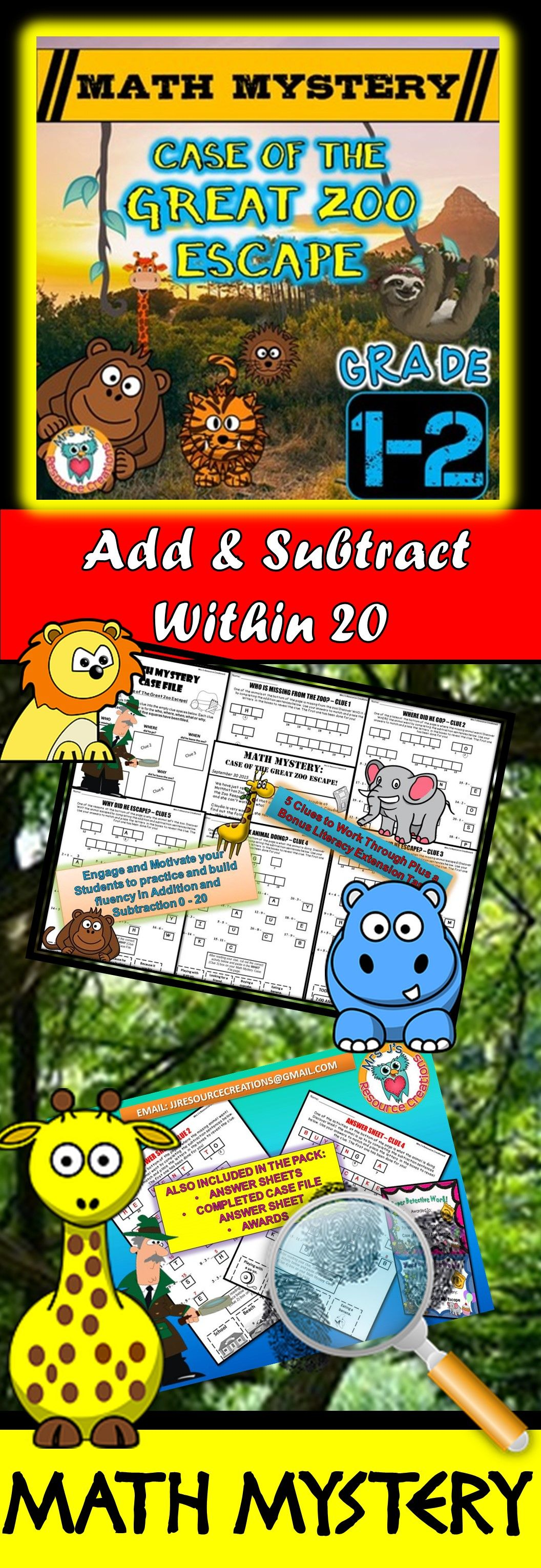 Addition And Subtraction Add Amp Subtract Within 20 Math
