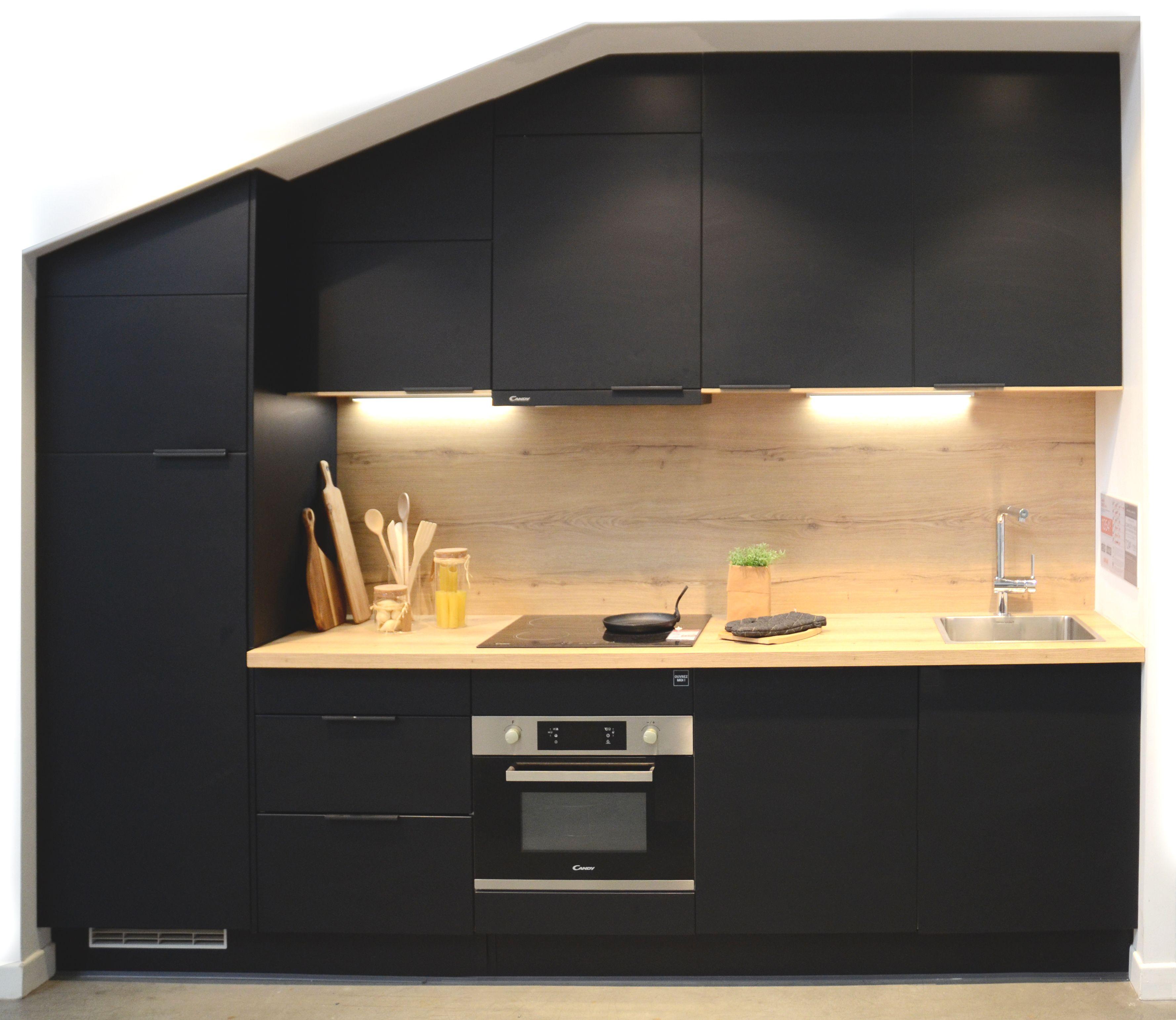 Cuisine Noire Porte Effet Soft Touch Ginko Noir Mat Oskab Cuisine Cuisine Oskab Oskab
