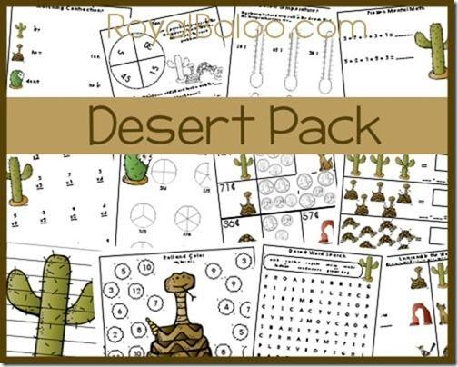 free desert packs desert activities for kids desert animals deserts homeschool. Black Bedroom Furniture Sets. Home Design Ideas
