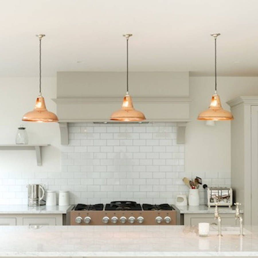 light pendants kitchen Coolicon Industrial Pendant Light Polished