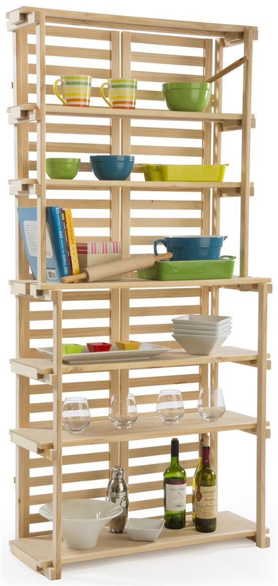 Wooden Retail Shelving Unit W 6 Shelves Pine Wood With Images