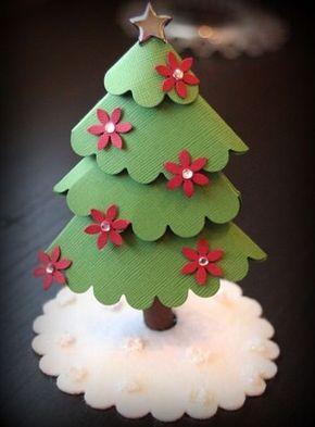 arbol navidad casero con cartulina navidad Pinterest rbol