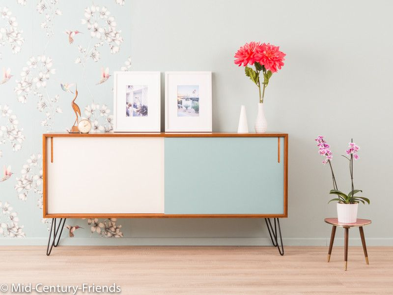 vintage kommoden 50er sideboard kommode 60er vintage ein designerst ck von mid century. Black Bedroom Furniture Sets. Home Design Ideas