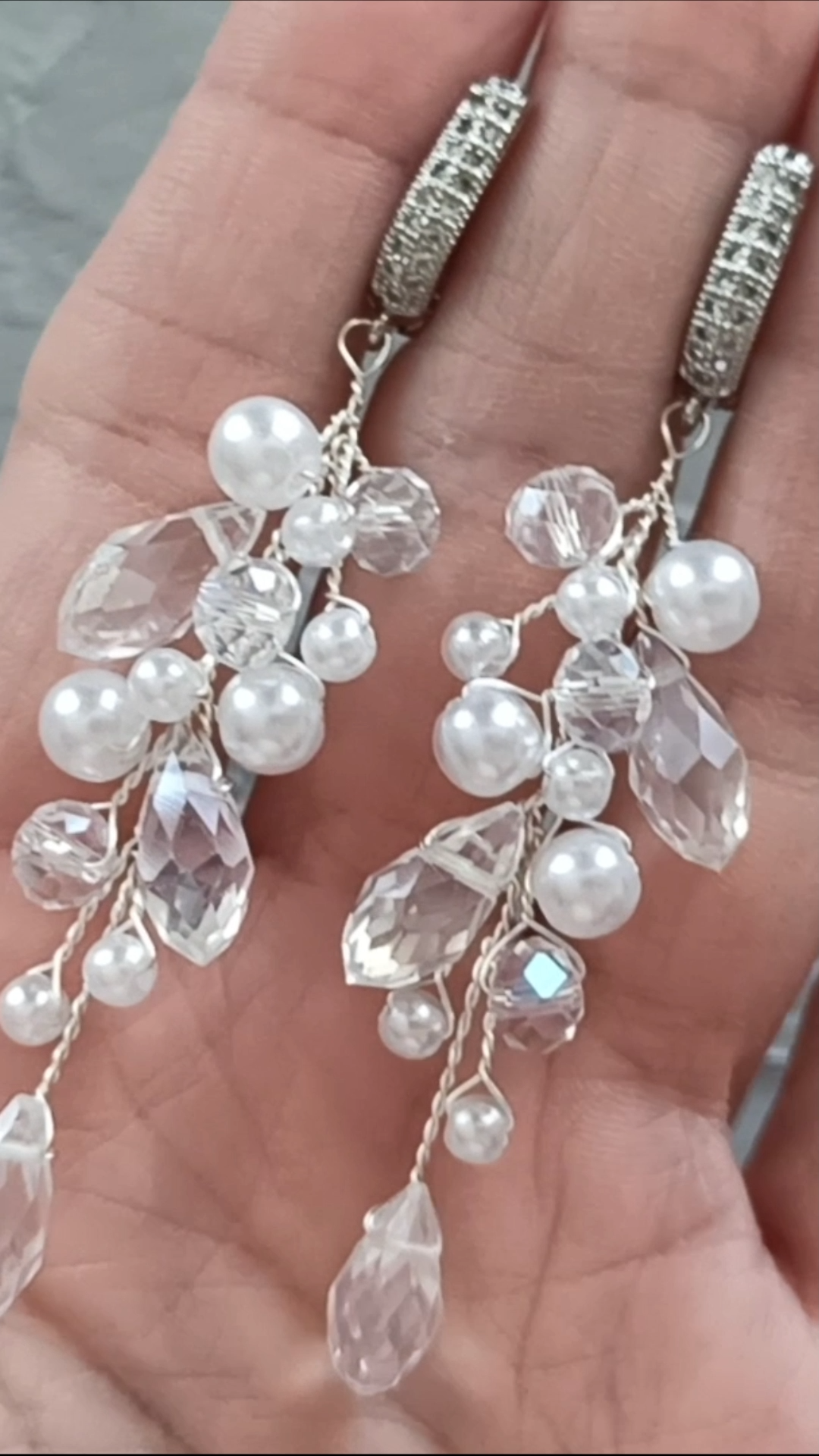 Photo of DIY Video Tutorial bridal pearl branch earrings, How to make wedding earrings