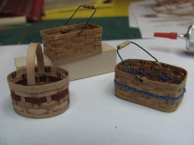how to make miniature furniture. Dollhouse Miniature Furniture - Tutorials | 1 Inch Minis: How To Make Baskets From O