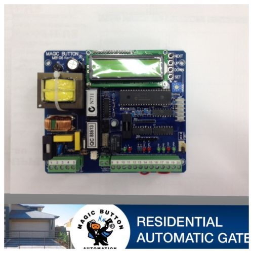 Magic Button 106 Logic Control Board By Magicbuttonman Automatic Gate Roller Doors Ebay
