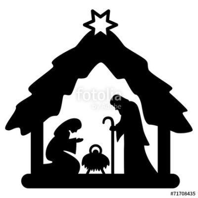Weihnachtskrippe Krippenfiguren Scherenschnitt Weihnachten Krippenfiguren Weihnachten Schattenbilder