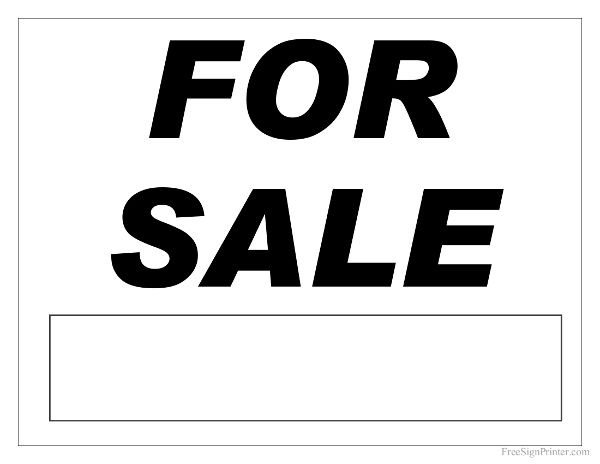 photo regarding For Sale Sign Printable named For Sale Indication - Printable For Sale Signal Initiatives towards Check out