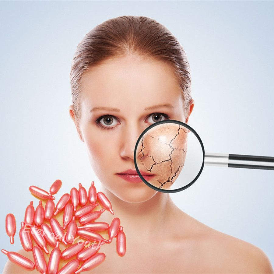 Capsules Ageless Vitamin E VE Facial Serum Whitening Moisturizing