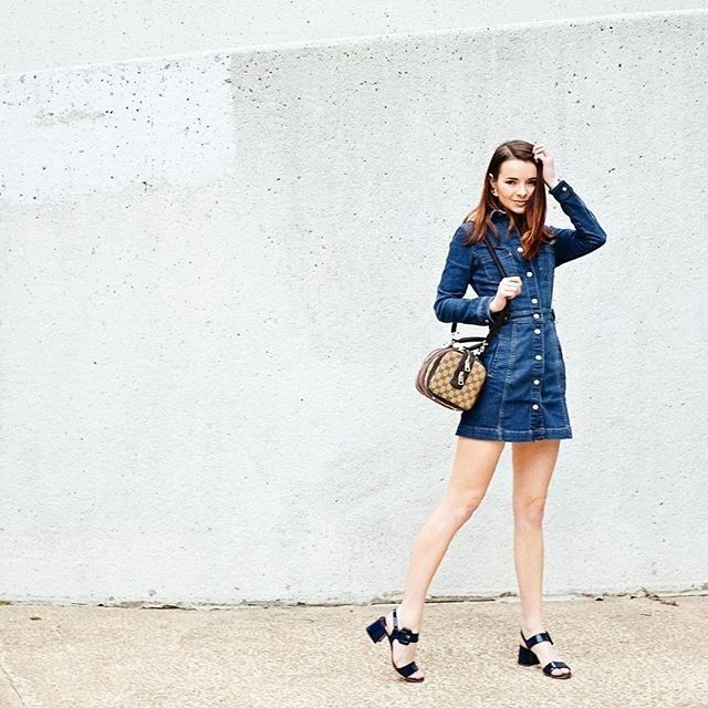 If you live in a generally warmer climate, you'll be able to break out the sandals long before the rest of us. (Lucky!) Low-heeled sandals are perfect for days when you need to be a little dressier, while a long-sleeved dress will keep you cozy.
