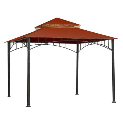 Threshold Madaga 10 X 10 Replacement Gazebo Canopy Red Gazebo Canopy Raised Garden Beds Diy Gazebo