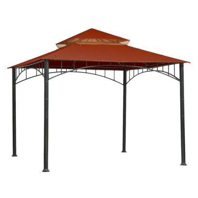 Threshold Madaga 10 X 10 Replacement Gazebo Canopy Red Gazebo Canopy Raised Garden Beds Diy Gazebo