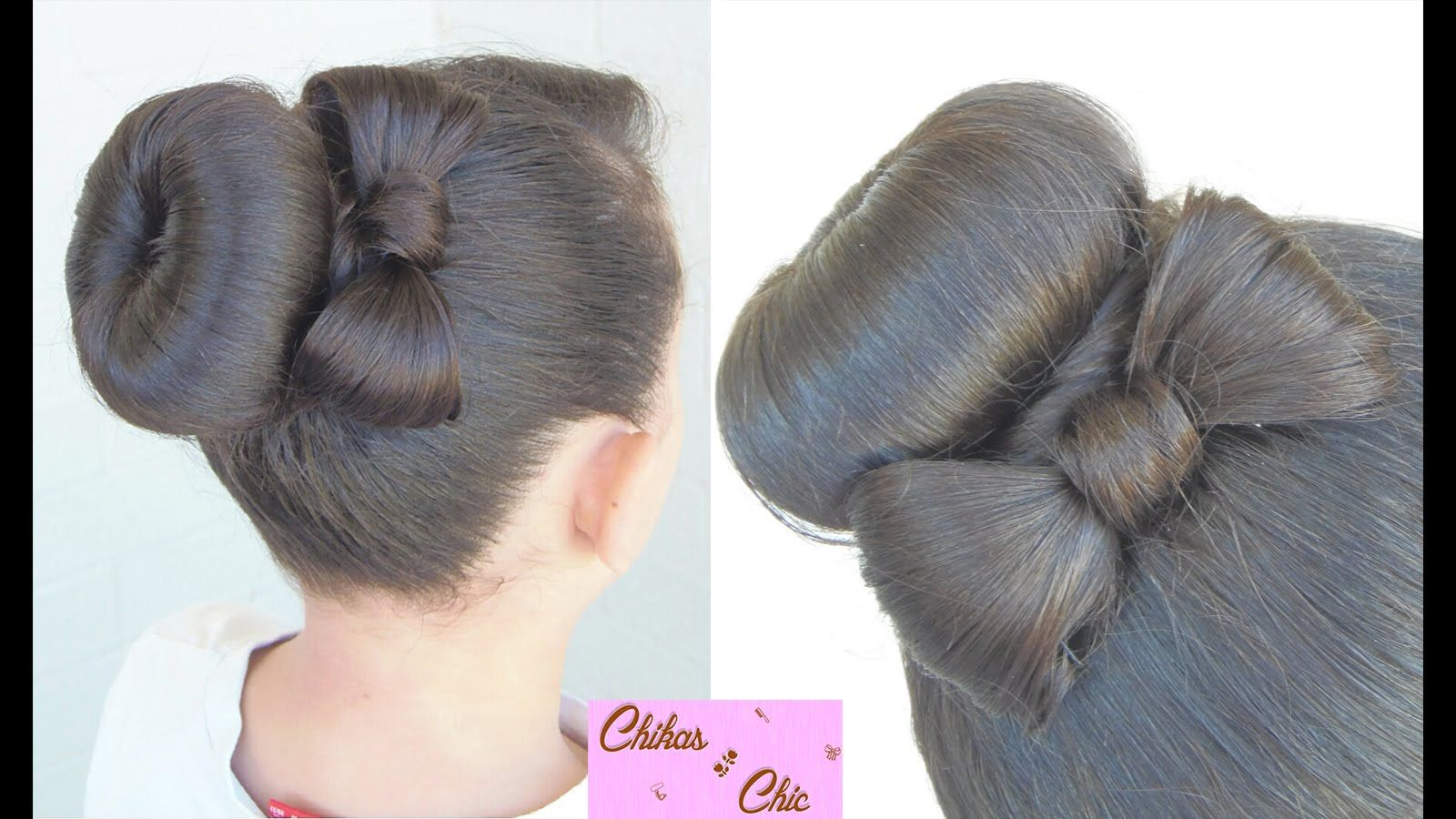 Donut Bun Bow!! | Updo Hairstyles | Cute Girly Hairstyles | H ...