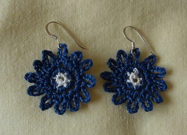 Ravelry: Bonny Blue Earrings pattern by Janet McMahon