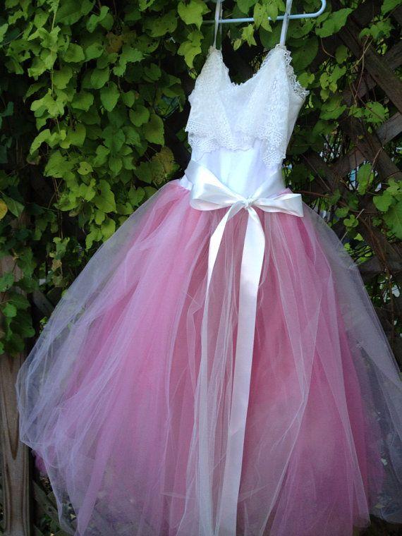 junior bridesmaids #blush #pink #wedding #tulle #lace # ...