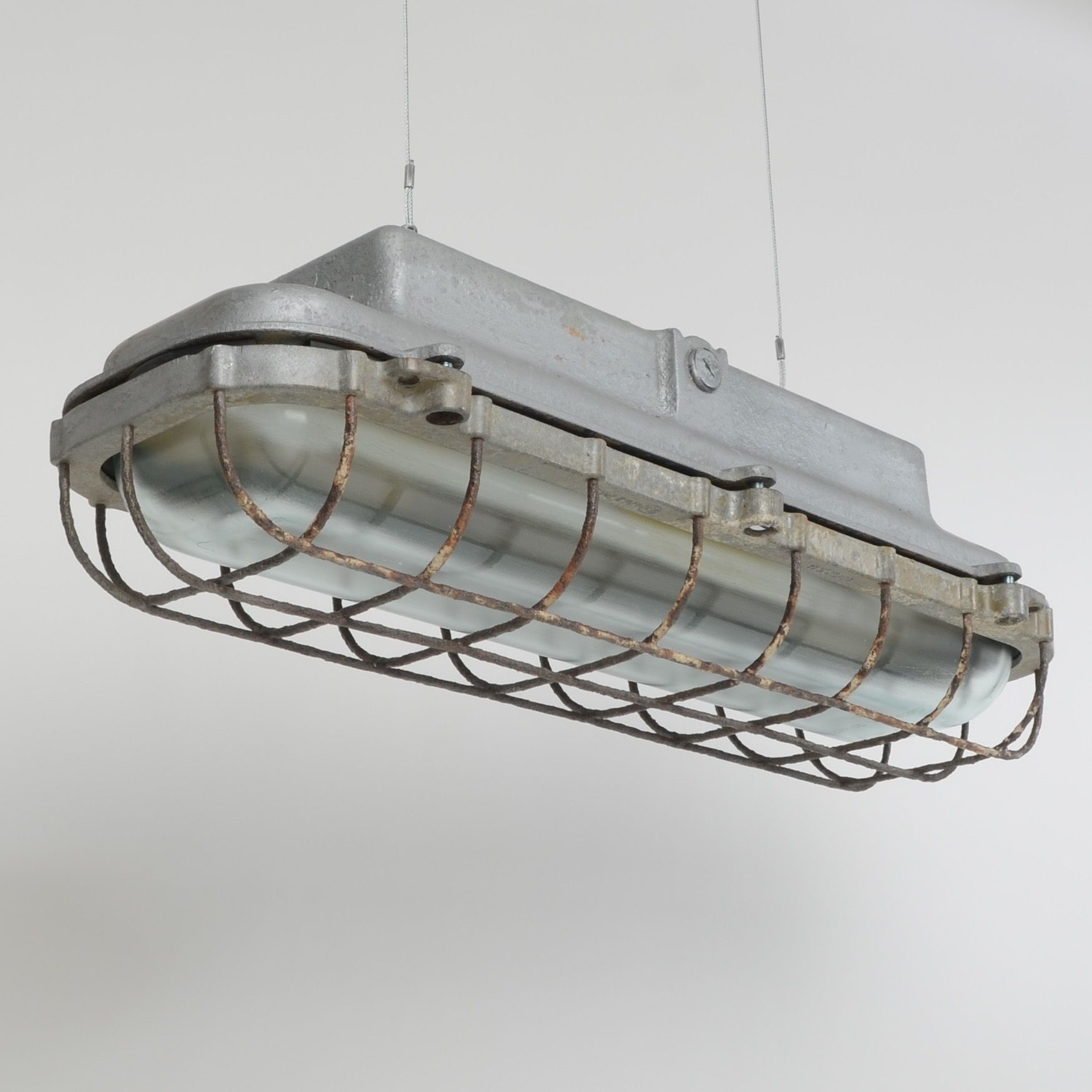 Caged fluorescent light fixtures interiors lightinglayouts caged fluorescent light fixtures arubaitofo Images