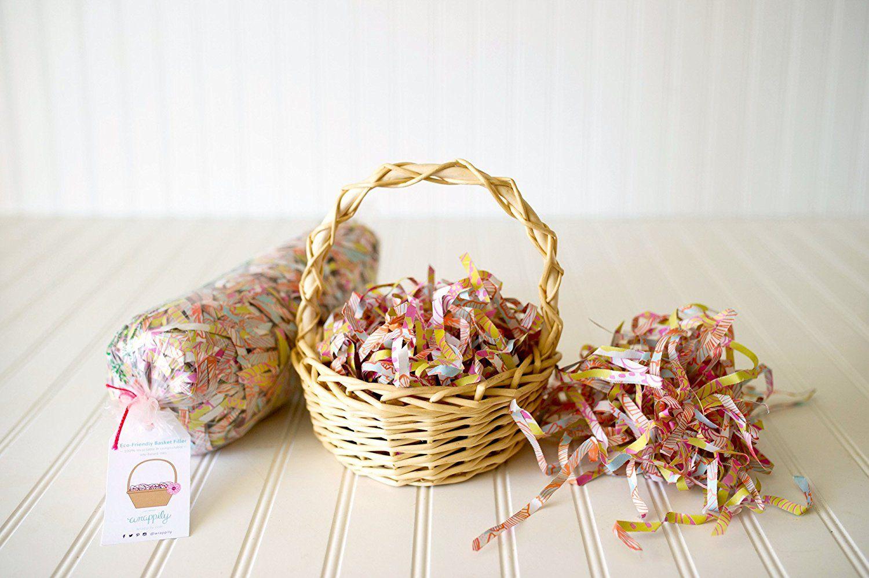 1KG Jaffa Imports Crinkle Zig Zag Paper Shred Hamper Basket Fill Packaging BABY PINK