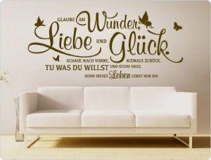 I Love Wandtattoo 11464 Wandtattoo Spruch Glaube An Wunder Liebe
