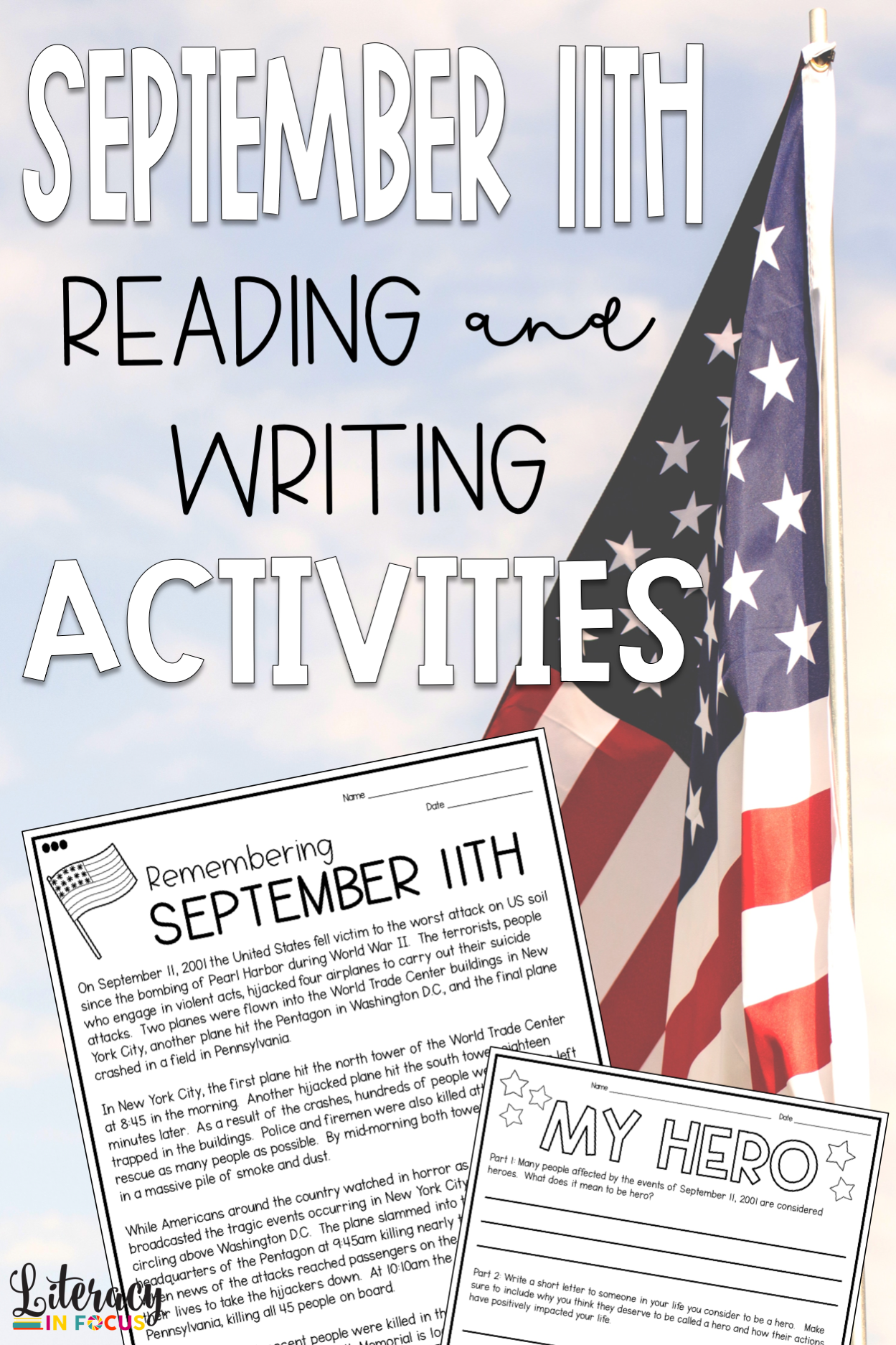 September 11th Differentiated Reading Amp Writing Activities