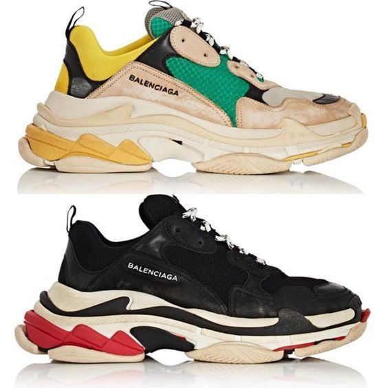 Buy Cheap Balenciaga Triple S Trainers Green  Yellow Source by sneakersking shoes