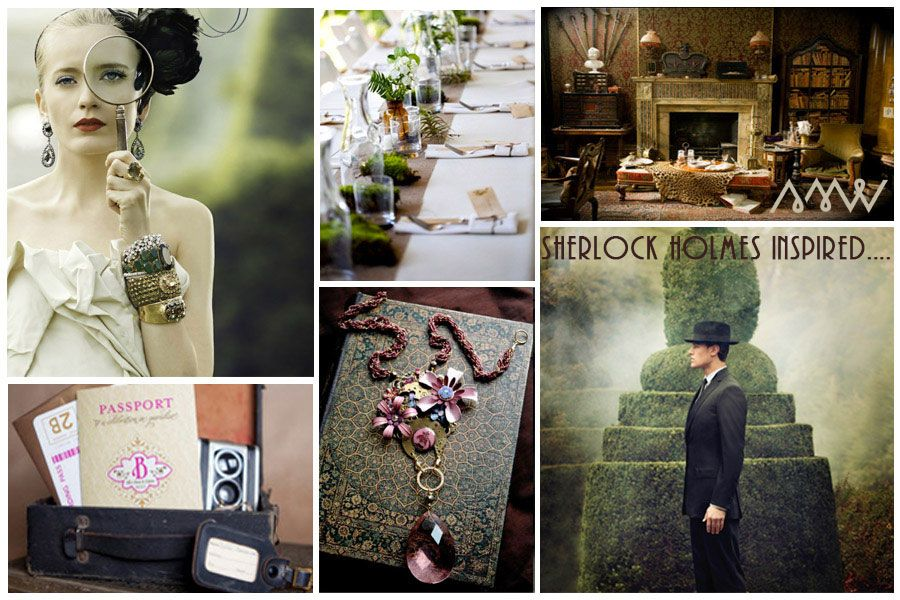 Sherlock Holmes Victorian Steampunk Inspired Whimsical Themes
