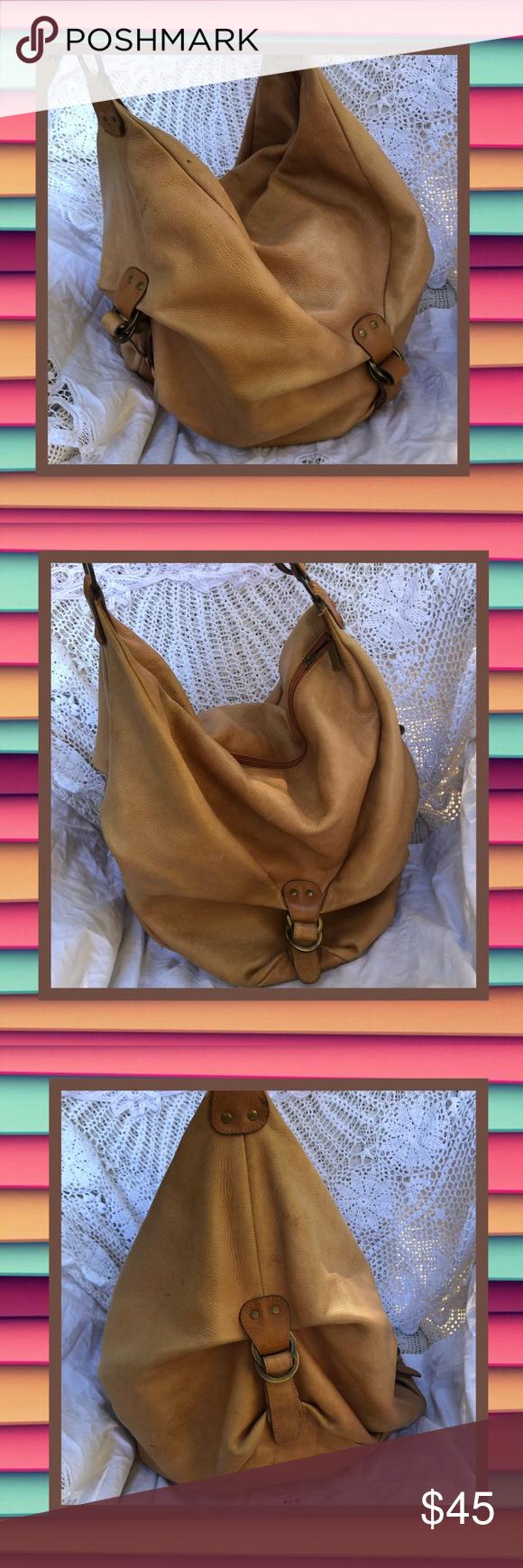 Helena de Natalia Huge Leather Hobo Bucket Purse This bag