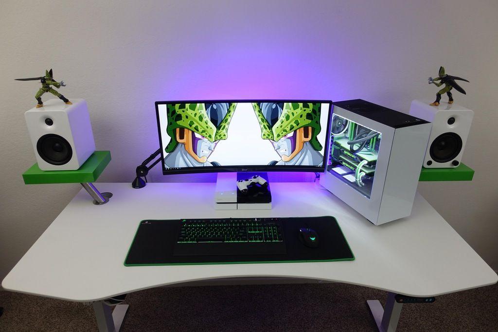 Ultrawide Perfect Cell Setup  battlestations table Escritorios